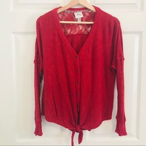 Knox Rose | Red blouse